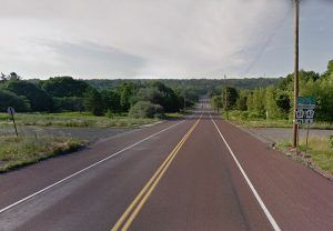 Locust Avenue in Centralia, Pennsylvania was once lined with buildings, photo courtesy Google Maps