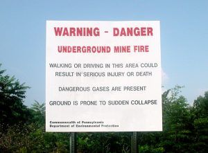 Centralia, Pennsylvania Warning Sign