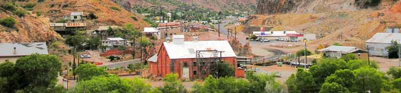 View of Clifton, Arizona by Kathy Weiser-Alexander.