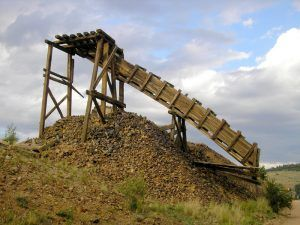 Mining remnants in Cripple Creek, Colorado by Kathy Weiser-Alexander.