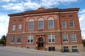 Teller County Courthouse in Cripple Creek, Colorado by Kathy Weiser-Alexander.