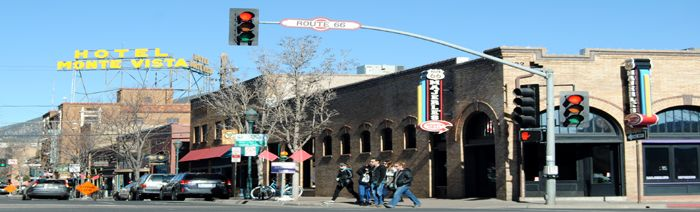 Flagstaff, Arizona Downtown by Kathy Weiser-Alexander.