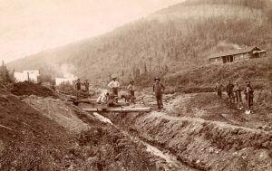 Gold miners in El Dorado, California about 1850.