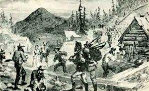 Gregory Gulch, Colorado, 1859.