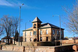 Navaho County Courthouse in Holbrook, Arizona by Kathy Weiser-Alexander.