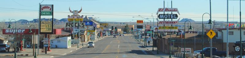 Route 66 through Holbrook, Arizona by Kathy Weiser-Alexander.