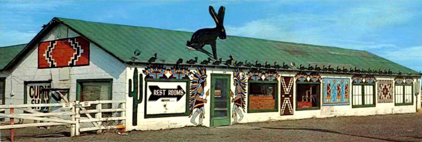 Vintage Jack Rabbit Trading Post in Joseph City, Arizona.
