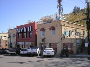 Jerome, Arizona buildings by Kathy Weiser-Alexander.