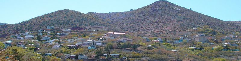 View of Jerome, Arizona atop Cleopatra Hill by Kathy Weiser-Alexander.