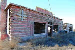Ruins of Ella's Trading Post in Joseph City, Arizona by Kathy Weiser-Alexander.