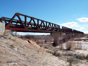 St. Joseph Bridge Historic Bridge southeast of Joseph City, Arizona, courtesy Wikipedia.