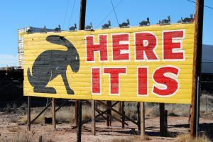 Jack Rabbit Trading Post sign by Kathy Weiser-Alexander.