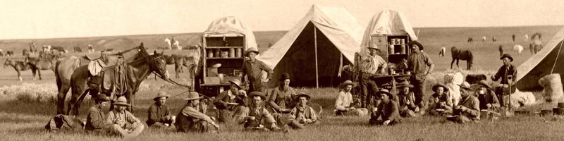 Mess time on the Belle Fourche , South Dakota by John C. HGrabill, 1887.