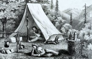 Miners' Tent by Britton & Ray, about 1850.