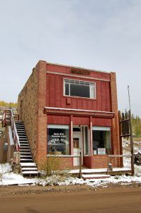 The Bald Mountain Trading Post in Nevadaville, Colorado is closed today. Photo by Kathy Weiser-Alexander.