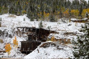 Mining Ruins in Nevadaville, Colorado by Kathy Weiser-Alexander.