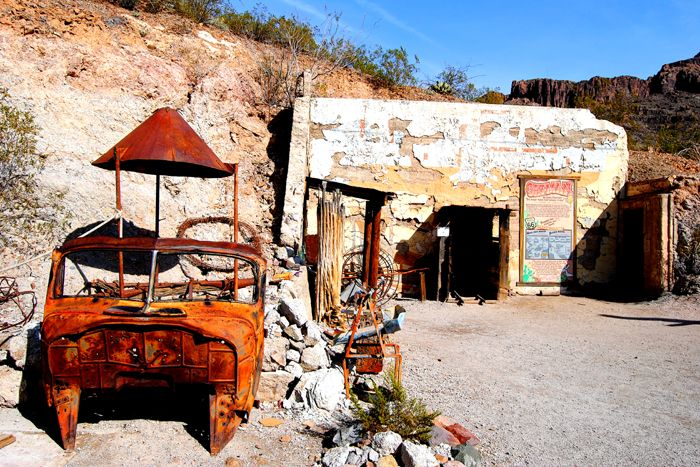 Oatman, Arizona Mine Museum by Kathy Weiser-Alexander.