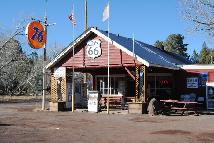 The Pines General Store on Route 66 in Parks, Arizona predates the establishment of the Mother Road. Photo by Kathy Weiser-Alexander.