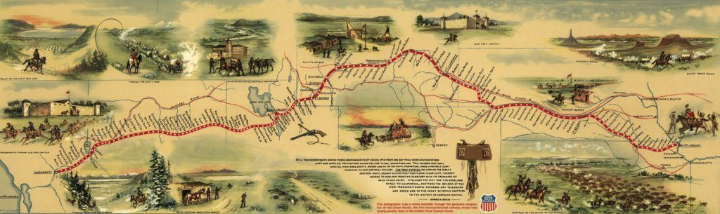 Pony Express Route by William Henry Jackson, 1860
