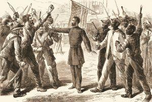Reconstruction following the Civil War.