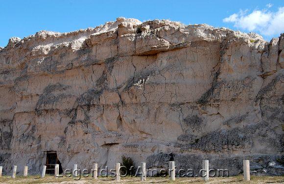 Register Cliff near Guernsey, Wyoming