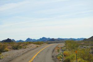 Route 66 between Oatman and Golden Shores, Arizona by Kathy Weiser-Alexander.