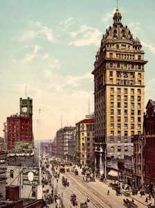 Market Street in San Francisco, California by the Detroit Photo Compaany, 1900.