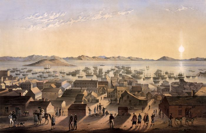 San Francisco, California by Frank Marry, about 1850.