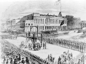 Men hanged in San Francisco, California, 1856.