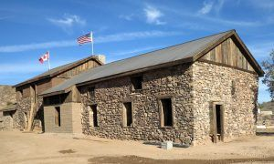 The Mine Office & Assay building in Vulture City, Arizona has been restored today. Photo courtesy Vulture Mine Tours.