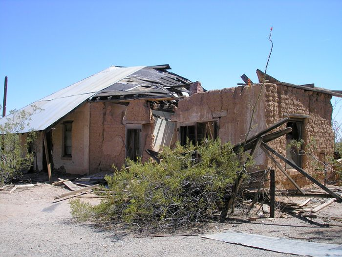 Old boarding house/brothel at Vulture City, Arizona by Kathy Weiser-Alexander.