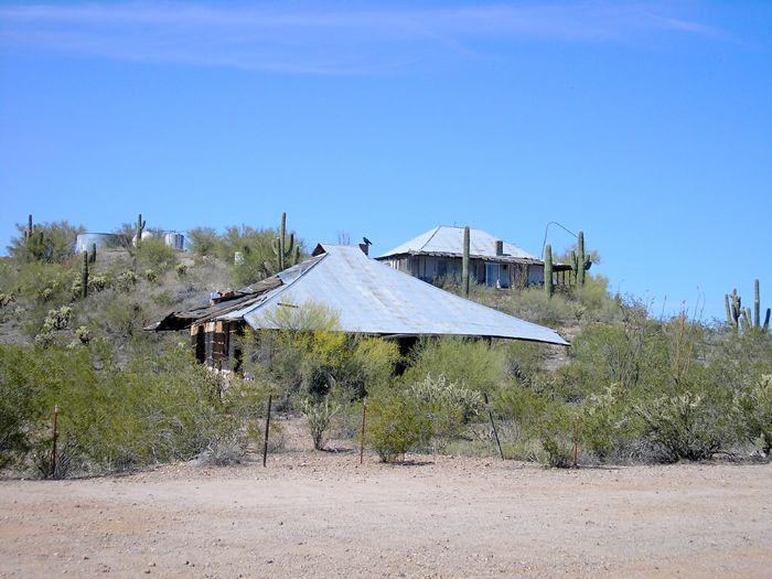 Old houses in Vulture, Arizona by Kathy Weiser-Alexander.
