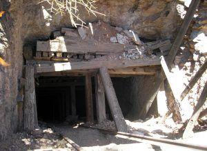 An old mine shaft in Vulture City, Arizona by Kathy Weiser-Alexander.