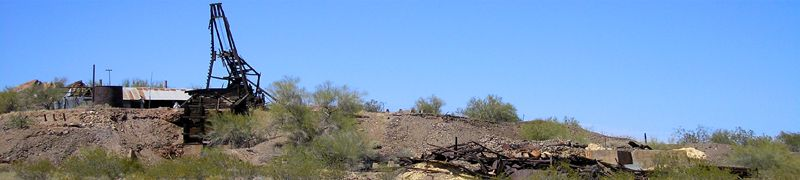 Vulture City, Arizona Mining Remains by Kathy Weiser-Alexander.
