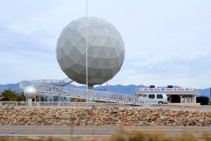 Golf Ball Building in Yucca, Arizona by Kathy Weiser-Alexander.