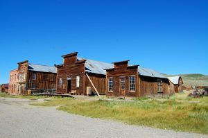 Buildings in the ghost town of Bodie, California.