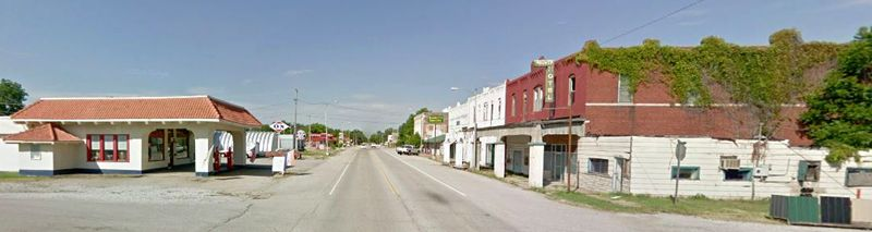 Afton, Oklahoma today, courtesy Google Maps.