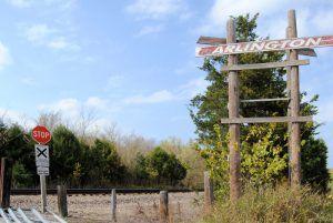 The railroad tracks still run through Arlington, Missouri today by Kathy Weiser-Alexander.