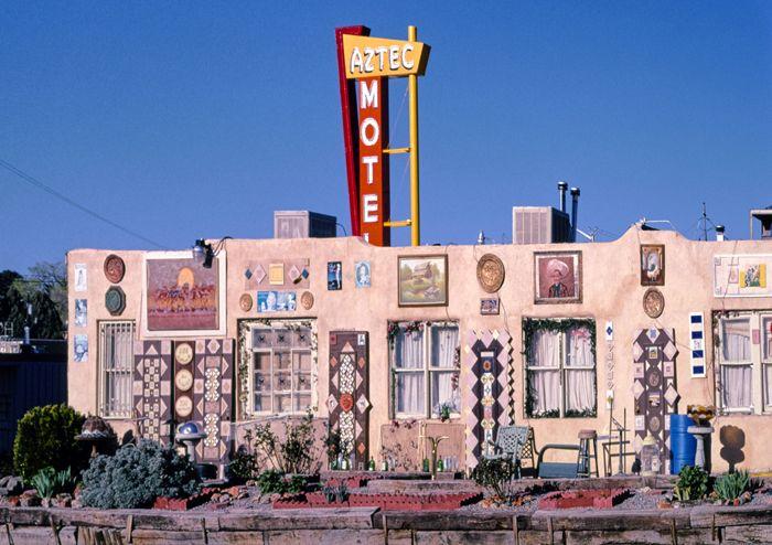Aztec Motel, Albuquerque, New Mexico Art Detail by John Margolies, 2003.