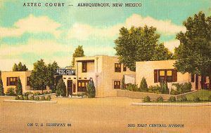 A postcard from the Aztec Court's early days.