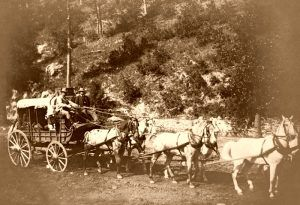 Black Hills Treasure coach by John H. Grabill about 1890.
