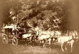 Black Hills Treasure coach by John H. Grabill about 1890.