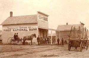 Buffalo Gap, South Dakota Bank, 1892.