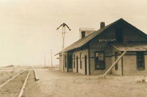 Railroad depot in Buffalo Gap, South Dakota.