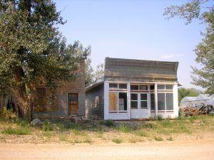 Abandoned businesses in Buffalo Gap, South Dakota by Kathy Weiser-Alexander.