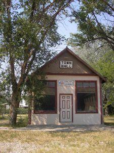 Town Hall in Buffalo Gap, South Dakota by Kathy Weiser-Alexander.