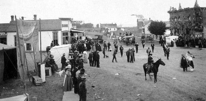 Buffalo Gap, South Dakota, about 1900.
