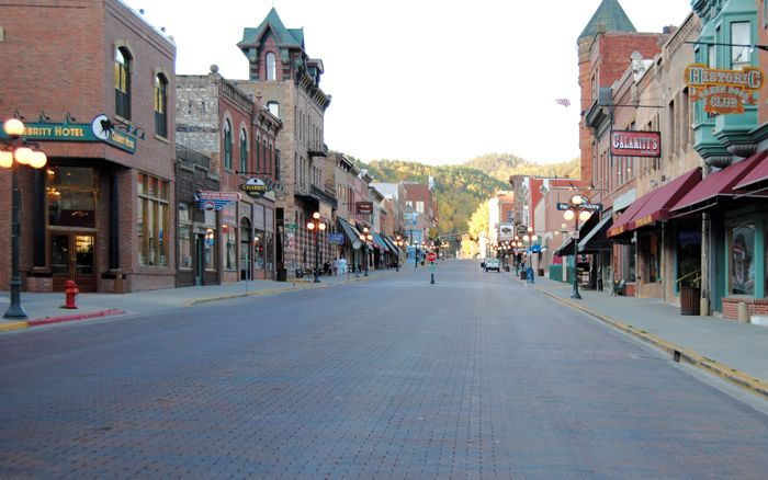 Early morning in Deadwood, South Dakota by Kathy Weiser-Alexander.