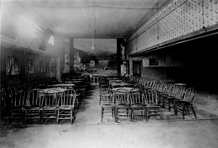 Stage area in the Gem Variety Theatre in Deadwood, South Dakota.