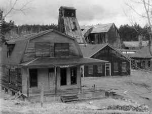 Golden Crest Mine in Galena, South Dakota, courtesy South Dakota Digital Archives.
